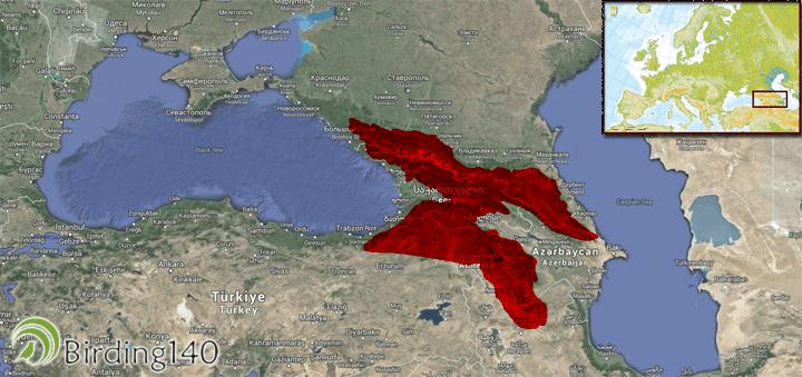 Localización de la EBA Cáucasiana